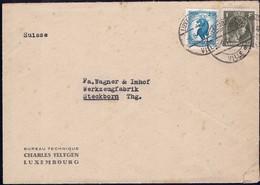 1946 Lettre Commerciale Bureau Technique Charles Feltgen Luxembourg, Michel: 359, 394 - Luxembourg
