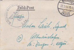 German Feldpost WW2: Wehr Kreis Unterführer Lehrgang V P/m Münsingen (Württ) 22.2.1944 - Letter Inside (DD24-51) - Militaria