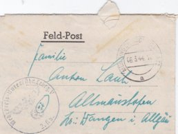 German Feldpost WW2: Wehr Kreis Unterführer Lehrgang V P/m Münsingen 6.3.1944 - Letter Inside (DD24-51) - Militaria