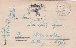 German Feldpost WW2: Wehr Kreis Unterführer Lehrgang V P/m Münsingen-Übungsplatz 14.2.1944 - Letter Inside - Militaria