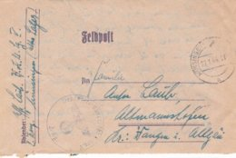 German Feldpost WW2: Wehr Kreis Unterführer Lehrgang V P/m Münsingen 27.1.1944 - Letter Inside - Militaria
