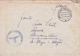 German Feldpost WW2: Wehr Kreis Unterführer Lehrgang V P/m Münsingen-Übungsplatz 4.1.1944 - Letter Inside (DD24-51) - Militaria