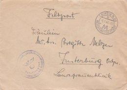 German Feldpost WW2: Heeresnachrichtenschule 1 Lwipzig P/m Leipzig N22 Reichsmessestadt 1.1.1944 - Cover Only (DD24-51) - Militaria