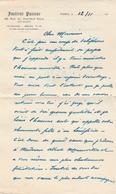 Docteur GUERIN (Poitiers1872 - Hôp.Pasteur Paris 1961) 2 Documents Manuscrits écrits En Tant Que Directeur De L'Institut - Autographs