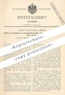 Original Patent - Georg Jacob Junk , Berlin , 1893 , Lichtempfindliche Stoffe U. Papier Per Bromsilber-Stärke   Fotograf - Documenti Storici