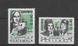 GUATEMALA 1992, UPAEP, COLUMBUS, DISCOVERY OF AMERICA, 500TH ANNIVERSARY, SAILING SHIPS MICHEL 1324/5, YVERT 837/40 - Guatemala