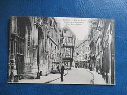 CPA 76 ROUEN RUE SAINT ROMAIN ENTREE DE LA CATHEDRALE COUR DES LIBRAIRES - Rouen