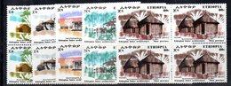 ETP23 - ETIOPIA 1972 , Yvert Serie In Quartina Yvert N 625/629  ***  MNH ARCHITETTURA - Ethiopia