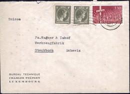 1948 Lettre Commerciale Bureau Technique Charles Feltgen Luxembourg, Michel:2x359, 423 - Luxembourg