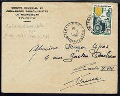 MADAGASCAR - 1952 - Groupe Colonial De Commandos Parachutistes De Tananarive Du Camp D'Ampahibé - Enveloppe Pour Paris - - Storia Postale