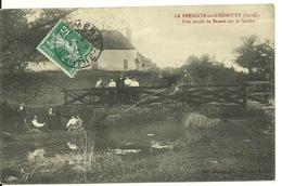72 - LA FRESNAYE SUR CHEDOUET / UNE PARTIE DE BATEAU SUR LA SARTHE - La Fresnaye Sur Chédouet