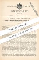 Original Patent - A. Oesinger & Cie , Strassburg / Elsass , 1894 , Druckfarbe Aus Basischem Teerfarbstoff   Farbe   Teer - Documenti Storici