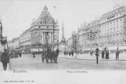 Bruxelles. Place De Brouckére.----scan---- - Marktpleinen, Pleinen