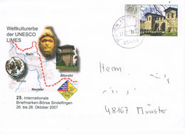Deutschland Ganzsachenumschlag Römisch Germanischer Limes - UNESCO Welterbe - History, Roman Border - Briefomslagen - Gebruikt