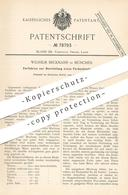 Original Patent - Wilhelm Beckmann , München , 1893 , Farbenbindemittel   Bindemittel   Farbe , Farben , Ölfarbe   Maler - Documenti Storici