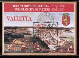 EUROPEAN IDEAS 1998 MT MI BL 16 MALTA USED - Idées Européennes