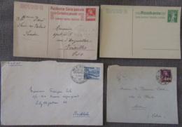 Suisse - 28 Enveloppes Dont Nombreux Entiers Postaux, EMA, Timbres, Etc... - 1886 à 1956 - à étudier - Suisse