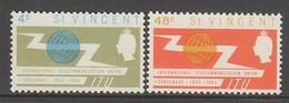 PAIRE NEUVE DE SAINT-VINCENT - CENTENAIRE DE L'UNION INTERN. DES TELECOMMUNICATIONS N° Y&T 205/206 - Télécom