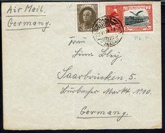 IRAN - 1938 - Affranchissement Riza Pahlavi Sur Enveloppe De Abadan Vers Saarbrucken - B/TB - - Iran