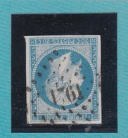 N°14 A    PC  1761   LORIENT   /  MORBIHAN + VARIETE     REF ACDIV - 1853-1860 Napoléon III