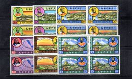 ETP27 - ETIOPIA 1964 , Yvert Serie In Quartina Yvert N 434/439  ***  MNH RE - Ethiopia