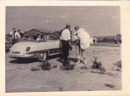 PHOTO 18 Cm X 13,2 Cm AUTO PANHARD DYNA Z12 Grand Standing Cabriolet Vers 1958 - Parachutiste - Automobiles