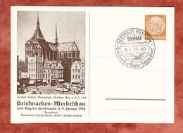 PP 122 C73/01 Hindenburg, Marienkirche, SoSt Seestadt Rostock 1938 (61403) - Deutschland