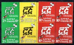 ETP28 - ETIOPIA 1969 , Yvert Serie In Quartina Yvert N 527/529  ***  MNH POSTE - Ethiopia