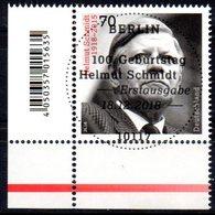 """Deutschland Mi. 3429 """"100. Geburtstag Von Helmut Schmidt"""" ESST-gestempelt Aus 2018 - [7] Federal Republic"""