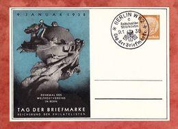 PP 122 C75/01 Hindenburg, Denkmal Weltpostverein Bern, SoSt Berlin Tag Der Briefmarke 1938 (61404) - Deutschland