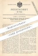 Original Patent - E. Dietz , Rotterdam , 1894 , Darstellung Phosphatreicher Schlacken Beim Thomasprozess   Eisen   Stahl - Documenti Storici