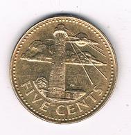 5  CENTS 1997 BARBADOS /8539/ - Barbades