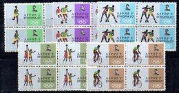 ETP30 - ETIOPIA 1968 , Yvert Serie In Quartina Yvert N 515/519  ***  MNH MESSICO - Ethiopia