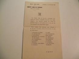 LIMOGES, COMITE LIBRE De Secours Pour Les Pauvres Hiver 1883/1884 - Documenti Storici
