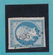 N°14 Af Bleu Laiteux    PC  1896   MARSEILLE   /  BOUCHES DU RHONE       REF ACDIV - 1853-1860 Napoleon III