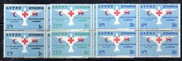 ETP32 - ETIOPIA 1969 , Yvert Serie In Quartina Yvert N 532/534  ***  MNH CROCE ROSSA - Croce Rossa