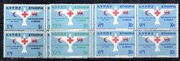 ETP32 - ETIOPIA 1969 , Yvert Serie In Quartina Yvert N 532/534  ***  MNH CROCE ROSSA - Ethiopia
