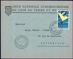 1954 Lettre Ligue Nationale Luxembourgeoise Du Coin De Terre Et Du Foyer, Michel: 524  4F - Luxembourg