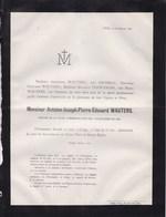 LIEGE STEIN LONCIN Antoine WAUTERS 73 Ans 1881 Décoré Croix Volontaires De 1830 Révolution TERWANGNE MICHIELS - Décès