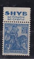 PUBLICITE: JEANNE D'ARC 50C BLEU SHYB-poudre-creme H ACCP 640** - Advertising