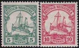 Deutsch  Neu Guinea   .   Michel   21/22    .  *       .   Ungebraucht Mit Gummi Und Falz   . / .   Mint-hinged - Colonie: Nouvelle Guinée