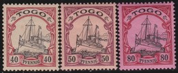 Deutsch  Togo    .   Michel  13/15    .  *       .   Ungebraucht Mit Gummi Und Falz   . / .   Mint-hinged - Colonie: Togo