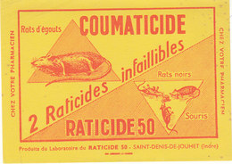 Buvard Coumaticide Du Labo Du Raticide 50..rats Et Souris - Animaux