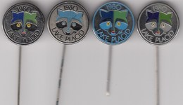 4 Diff. Pins Pin Badge Anstecknadel  Winter Olympic Games Lake Placid 1980 80 USA Olympics Olympia - Olympic Games