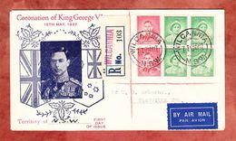 FDC?, Luftpost, Einschreiben Reco, Kroenung Koenig George, Wilcania Ueber Sydney Nach Granville 1937 (61407) - FDC