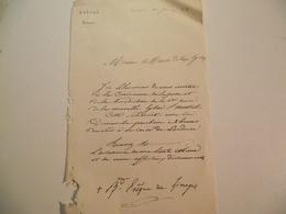 LIMOGES,ÉVÊCHÉ, Invitation, Pause De La Premiere Pierre, Eglise St Martial,  1883 - Documenti Storici