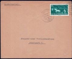 1952 Lettre Luxembourg Vers Stuttgart, Michel: 478  80c. - Luxembourg