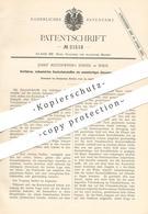 Original Patent - Josef Reithoffer Söhne , Wien , 1882 , Vulkanisierter Kautschuk   Samt   Gummi , Zink , Schwefel !!! - Documenti Storici