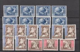 Deutschland Deutsches Reich ** 823-825 Postkongress Der Achsenmächte Mit Aufdruck Mehrfach Katalog 80,00 - Deutschland