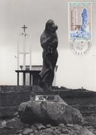Carte  Photo  Maximum  1er  Jour   T.A.A.F    Chapelle    NOTRE  DAME  DES  VENTS      KERGUELEN    1983 - Terres Australes Et Antarctiques Françaises (TAAF)